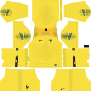 France Goalkeeper Home Kit World Cup 2018