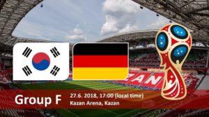 Germany vs South Korea Live Streaming Fifa World Cup 2018