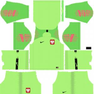 Poland Goalkeeper Away Kit World Cup 2018