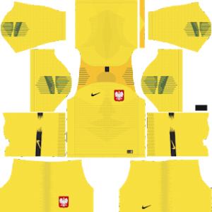 Poland Goalkeeper Home Kit World Cup 2018