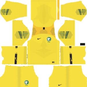 Saudi Arabia Goalkeeper Away Kit World Cup 2018