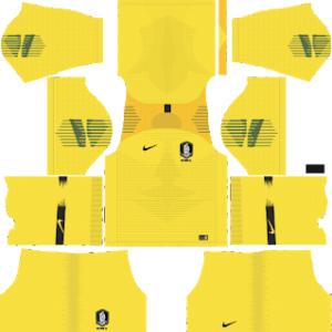 South Korea Goalkeeper Home Kit World Cup 2018