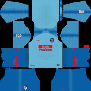 atletico madrid away kit 2018-2019 dream league soccer