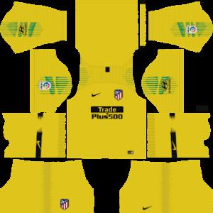 atletico madrid goalkeeper third kit 2018-2019 dream league soccer