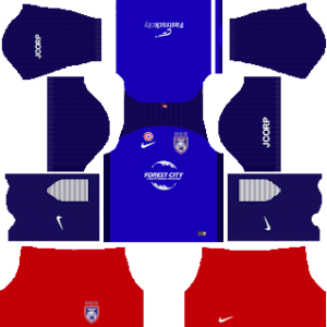 Johor Darul Takzim home kit 2018-2019 dream league soccer