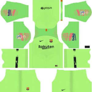 Barcelona Goalkeeper Home kit 2019