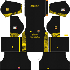 barcelona 2011-2012 dls goalkeeper home kit