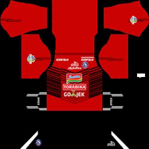Arema FC goalkeeper away kit 2018-2019 dream league soccer