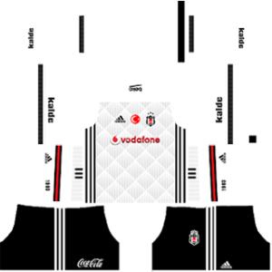 Besiktas J.K Kits 2017-2018 Dream League Soccer