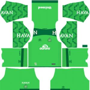 Chapecoense DLS 2017-18 Goalkeeper Away Kit