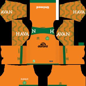 Chapecoense DLS 2017-18 Goalkeeper Home Kit