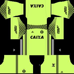 Coritiba FC DLS 2017-2018 Goalkeeper Home Kit
