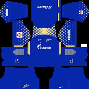 FC Zenit Saint Petersburg DLS 2017-2018 Goalkeeper Away Kit