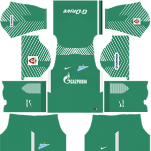 FC Zenit Saint Petersburg DLS 2017-2018 Goalkeeper Home Kit