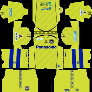 Gamba Osaka goalkeeper away kit 2017-2018 dream league soccer
