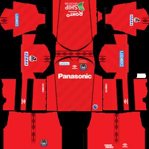 Gamba Osaka goalkeeper home kit 2017-2018 dream league soccer