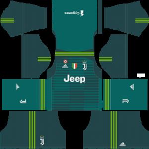 juventus goalkeeper home kit 2018-2019 dream league soccer