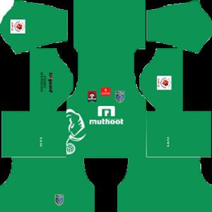 Kerala Blaster DLS 2016-2017 Goalkeeper Home Kit
