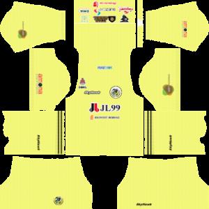 Kuala Lumpur FA goalkeeper away kit 2018-2019 dream league soccer