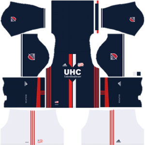 New England Revolution Kits 2017-2018 Dream League Soccer