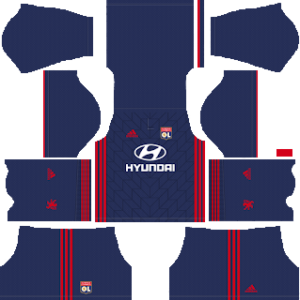 olympique lyon away kit 2018-2019 dream league soccer