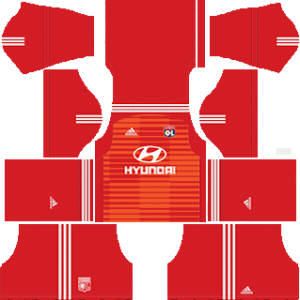 olympique lyon goalkeeper home kit 2018-2019 dream league soccer
