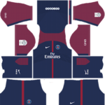 Paris Saint-Germain (PSG) Dream League Soccer Kits 2017-2018