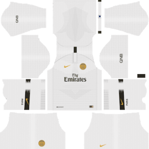 paris saint germain psg away kit 2018-2019 dream league soccer