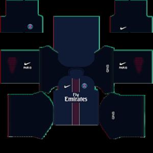 Paris Saint-Germain (PSG) Kits 2015-2016 Dream League Soccer