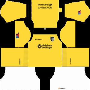 Terengganu FC goalkeeper away kit 2017-2018 dream league soccer