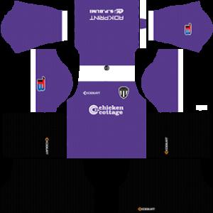 Terengganu FC goalkeeper home kit 2017-2018 dream league soccer