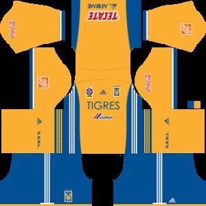 Tigres UANL Kits 2017-2018 Dream League Soccer