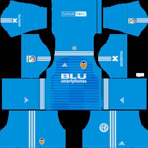 valencia goalkeeper away kit 2018-2019 dream league soccer