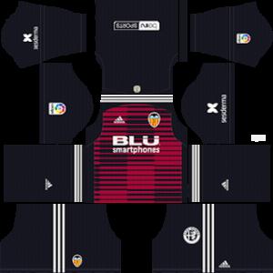 valencia goalkeeper home kit 2018-2019 dream league soccer