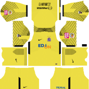 sanfrecce hiroshima goalkeeper away kit 2017-2018 dream league soccer