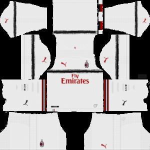 ac milan away kit 2018-2019 dream league soccer