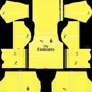 ac milan goalkeeper home kit 2018-2019 dream league soccer