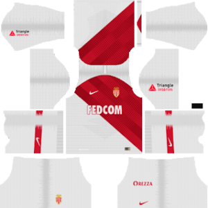 as monaco home kit 2018-2019 dream league soccer