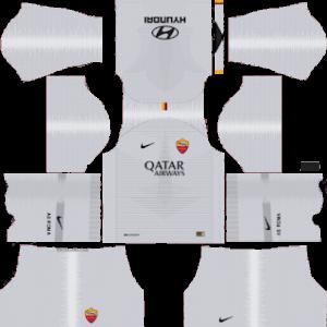 as roma away kit 2018-2019 dream league soccer