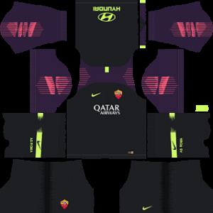 as roma goalkeeper away kit 2018-2019 dream league soccer