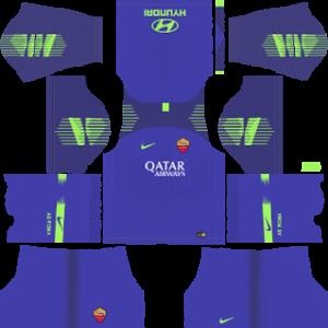 as roma goalkeeper home kit 2018-2019 dream league soccer