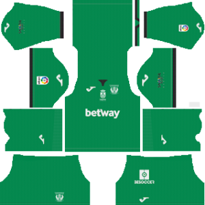 cd leganes goalkeeper home kit 2018-2019 dream league soccer