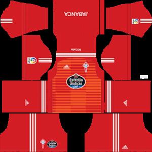 celta vigo goalkeeper home kit 2018-2019 dream league soccer