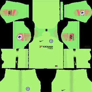 chelsea goalkeeper home kit 2018-2019 dream league soccer