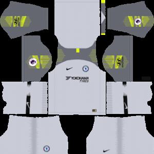chelsea goalkeeper away kit 2018-2019 dream league soccer