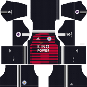 leicester city goalkeeper home kit 2018-2019 dream league soccer