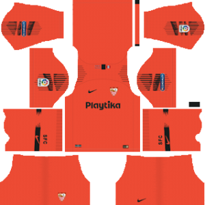sevilla goalkeeper away kit 2018-2019 dream league soccer