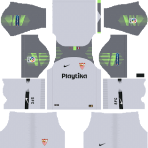 sevilla goalkeeper third kit 2018-2019 dream league soccer