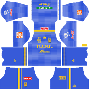 tigres uanl away kit 2018-2019 dream league soccer
