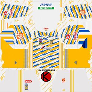 tigres uanl third kit 2018-2019 dream league soccer
